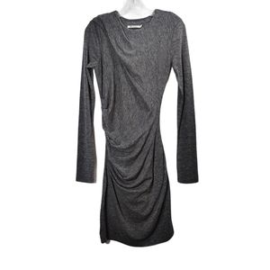 T Alexander Wang Gray Ruched Bodycon Dress Size M